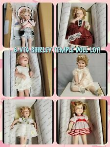 6 VTG HTF SHIRLEY TEMPLE DANBURY MINT DOLL LOT ALL NEW IN BOX W/ ORIGINAL BOXES