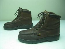 DISTRESSED MADE IN USA BROWN LACE UP LEHIGH & DRY STEEL TOE WORK BOOTS 10 EE