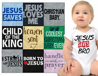 Baby Christian Shower Gift Romper For Boys Girls Faith Newborn Babies Bodysuit