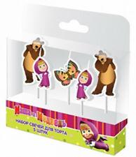 Festive Set 5 Candles of Figures Masha and the Bear Party Supplies Cake toppers