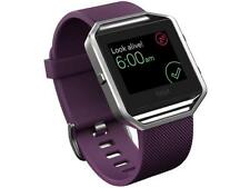 Fitbit Blaze Activity Tracker - Large - Plum & Silver