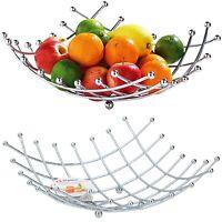 Alpina fruit bowl Basket Stainless Steel Chrome Lattice Home Kitchen Dining Std