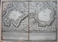 PLAN: ELVAS et EVORA, dans la province d'ALENTEJOS. A Paris, chez De Fer, carte