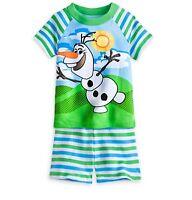 Disney Store Frozen Olaf Snowman Pajamas PJ Pal Short Set Boys Size 4 5 6 7 8 10
