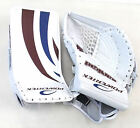New Powertek Barikad Jr catch blocker/glove blue/purple junior ice hockey goalie