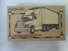 Ertl Collectibles White GMC Cab with Trailer 1/64