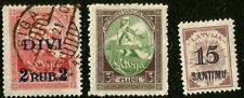 LATVIA ALLEGORY HEARS CALL TO ASSEMBLE MINT & USED HISTORIC STAMPS FROM 1920