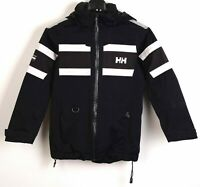 Helly Hansen Parka Jacket Youth's Coat Top Blue Removable Hood Taped Seams RA30h