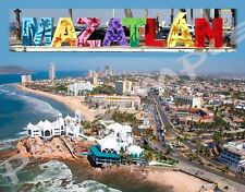 Mexico - MAZATLAN - Travel Souvenir Flexible Fridge Magnet