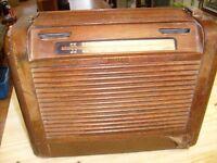Vintage Philco Model 46-350 Wood Roll Top Desk Tube Radio - untested  /01