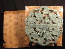 VIRGINIA METALCRAFTERS CAST HALF LEAF TRIVET VERDIGRIS FINISH w/ ORIGINAL BOX