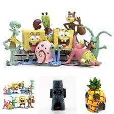 8pcs SpongeBob Squarepants Pineapple House Fish Tank Aquarium Ornament Toys
