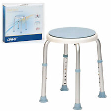 Drive DeVilbiss Bath Stool with Rotating Seat, Adjustable Height 135kg (12004SWIVKDR)