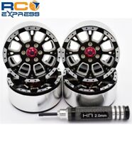 Hot Racing-Aluminum Billet 1.9 Beadlock Wheels W/ 12mm Hex (C-Style) -BLW19SLC01