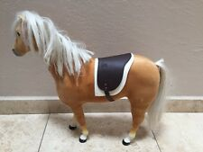 """American Girl Palomino Horse With Saddle 19"""" high"""
