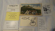 Vintage HOT FISH SHOP, WINONA, MN  16 COMIC BUSINESS CARDS & POSTCARD