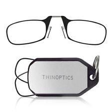 ThinOptics +2.00 Black Reading Glasses, Keychain Case KC2.0BLACKISR