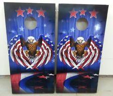 Patriotic Eagle Corn Hole Boards - Bean Bag Toss Game