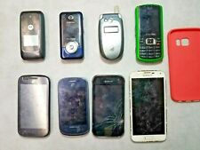 Lot Of 6 As is For parts/repairs Flip Cell Phones Samsung, Motorola, Lg and more