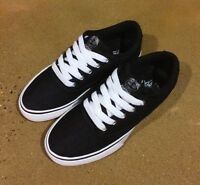 Osiris Caswell VLC Size 5.5 Black White Dye BMX DC Skate Shoes Caswell Berry