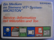 SIEMENS VIT-System MICROTON Nr. 12 Farbfernsehgeräte Bedienteile PK100S IB39S