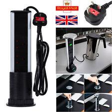 3 Power Sockets Pop up Pull up UK Plug 2usb Ports Kitchen/worktop Extension Lead