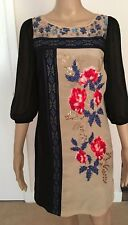 Monsoon Ladies Hand Embellished Tunic Dress in Multi UK8/EU36/US4 RRP £150