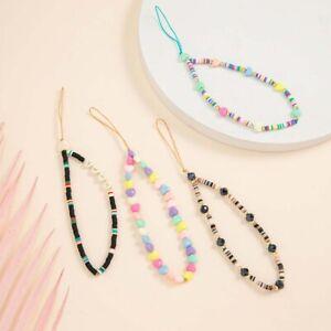 Handyband Silikon Perlenkette Blumenanhänger Weiche Keramik Perlenkette