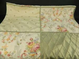 EUC Laura Ashley Tan Pink Peony Country Cottage Floral Patchwork Shower Curtain