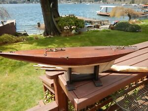 Antique Model Sailboat Pond Boat Nautical - Early 1900's
