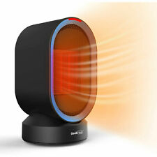 Geek Heat Personal Oscillating Ceramic Space Heater for Home, Black (Open Box)