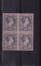 MONACO  prince Charles III   40c  bleu sur noir  num:  7  *  en bloc de 4 signé