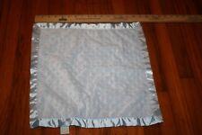 Bearington Baby Collection Blue Minky Bumpy Dots Lovey Security Blanket Satin