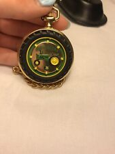 Authentic John Deere Model B Pocket Watch With Genuine Leather Case NEW