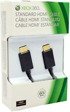 Official Microsoft XBox 360 Standard 6.5' Black HDMI CABLE A/V slim OEM hdtv