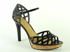 ac784a792898 Nine West Women s Flowerhill Platform Ankle-strap PUMPS Black Leather ...