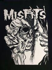 MISFITS Hand Skull big back patch punk
