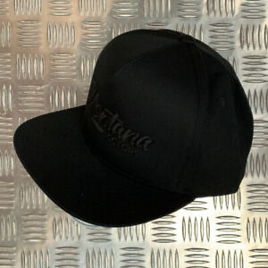 MTN Snapback Cap by Montana Colors - Black with Black Embroidered Detail