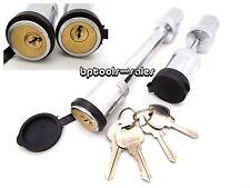 """New Keyed Alike 5/8"""" Hitch Pin & 1/4"""" Trailer Coupler Lock Set Same Key Locking"""