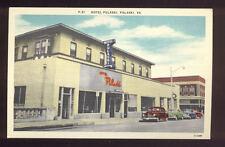 Vintage Linen Postcard Hotel Pulaski Pulaski VA Nice Old Cars A7247