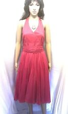 COAST Red Evening Dress.  Cocktail Party, Wedding, Prom.  Halter Neck    SIZE 16