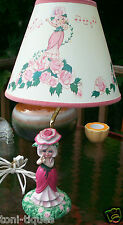 "Vtg 1980's KENNER 18"" Rose Petal Place Porcelain Doll LAMP & SHADE Hard To Find!"