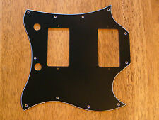 PICKGUARD BLACK FULL FACE SIZE 3 PLY FOR GIBSON SG STANDARD
