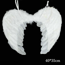 Womens Kids Feather Wings Angel Fairy Fancy Dress Costume Halloween Party Favor