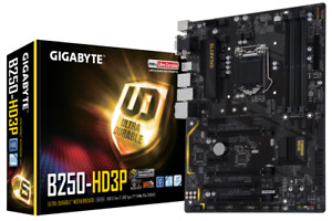 Gigabyte GA-B250-HD3P Motherbord Bundle with Intel cpu i5-7600 & Intel cooler.