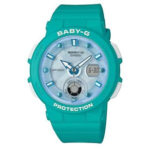 Casio Baby-G Analogue-Digital Quartz Blue Bracelet Ladies Watch BGA-250-2AER