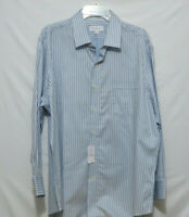 NWT Tommy Bahama Blue/Navy/Black Stripe Button Down Dress Shirt Size 17 32/33