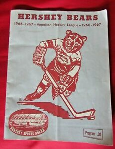 1966-1967 Hershey Bears Quebec Aces Jan 7, 1967 AHL Game Program
