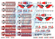 Mitsubishi Ralliart Decals | Waterslide Decals in all scales from 1/64 to 1/24