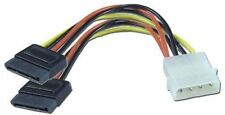 Galaxy 4pin Molex to Dual 15pin SATA Power Y Cable